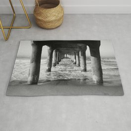 Manhattan Beach Pier | Manhattan Beach Photography | Manhattan Beach Art | Manhattan Beach Print Rug