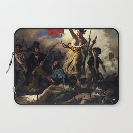 LIBERTY LEADING THE PEOPLE - EUGENE DELACROIX Laptop Sleeve
