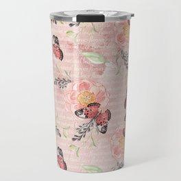 Flowers & butterflies #1 Travel Mug