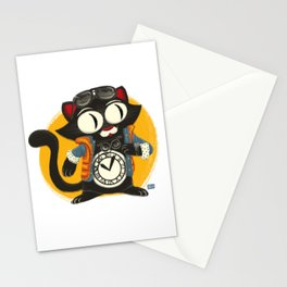 Time Cat Stationery Cards