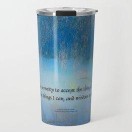 Serenity Prayer Blue Marsh Travel Mug