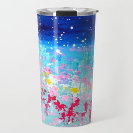 Blue Abstract Art - High Hopes Travel Mug