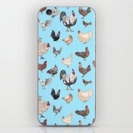 Chicken Happy (blue) iPhone Skin