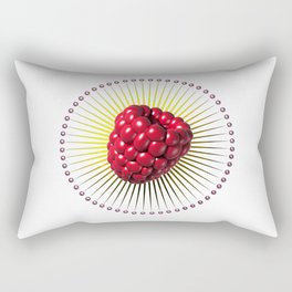 raspberry, sweet and sexy fruit with aureole Rectangular Pillow