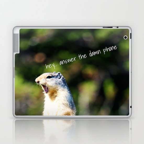 Angry Squirrel Laptop & iPad Skin