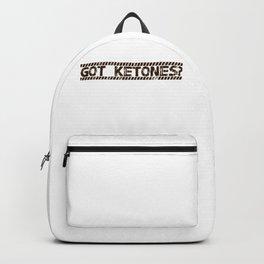 Got Ketones LCHF Keto Diet Ketosis Lifestyle Healthy Living Backpack