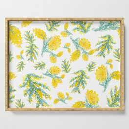 Australian Wattle Flower Pattern Serving Tray