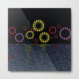 Grand Finale (Fireworks on the water) Metal Print