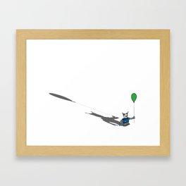robot with a green balloon Framed Art Print