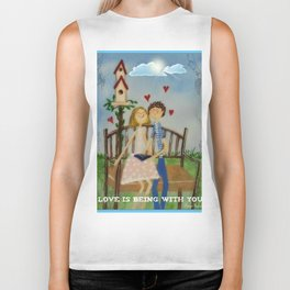 Love is being with you. Biker Tank