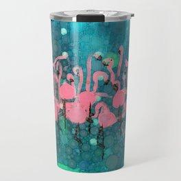 :: Flamingos Among Us :: Travel Mug