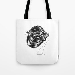 Head of Hair. Black Ink Illustration Tote Bag