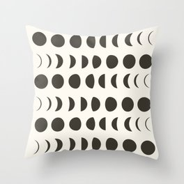 Phases of the Moon II Throw Pillow