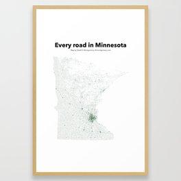 Every Road in Minnesota Framed Art Print