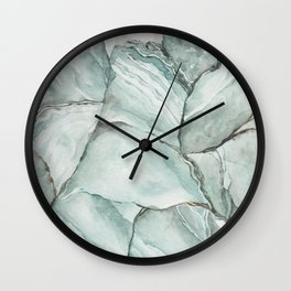 Aquamarine Stone Wall Clock