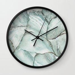 Aquamarine Stone Wall Clock
