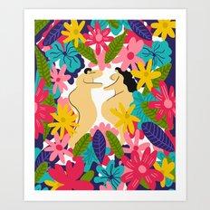 Couple Flowes Art Print