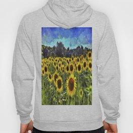 Sunflower Fields Of Dreams Van Goth Hoody