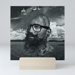 Eco Hipster Black and White Mini Art Print