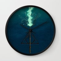 snape Wall Clocks featuring Harry Potter Deathly Hollows Expecto Patronum by aleha