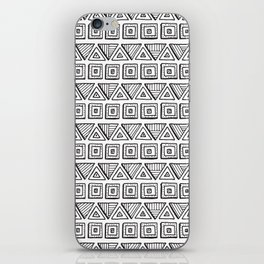 Black & White Hand Drawn Pattern iPhone Skin