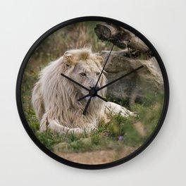 Lion Resting Wall Clock