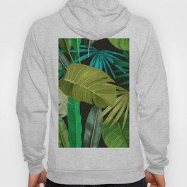 Tropical Leaf Pattern Hoody