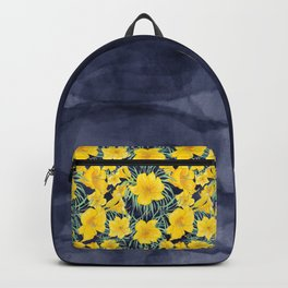 Indigo and yellow lilies - back to school Backpack