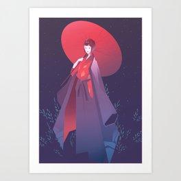 Lady Eboshi Art Print