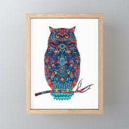 Owl illustration Framed Mini Art Print