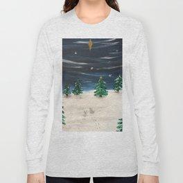 Christmas Snowy Winter Landscape Long Sleeve T-shirt