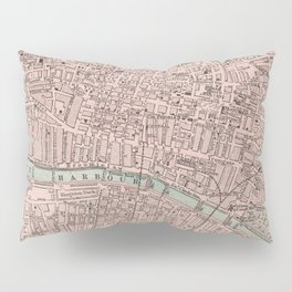 Vintage Map of Glasgow Scotland (1901) Pillow Sham