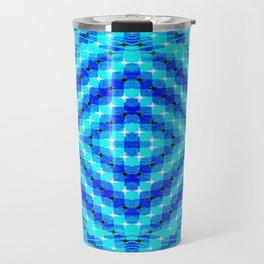FLUX #6  Optical Illusion Vibrant Colorful Psychedelic Trippy Design Travel Mug