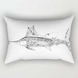 Fisherman Marlin Rectangular Pillow