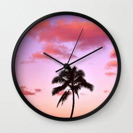 Lone Palm Wall Clock