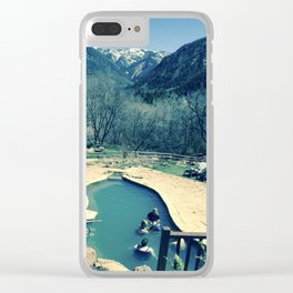 Avalanche Ranch Hot Springs, Colorado Clear iPhone Case