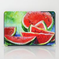 watermelon iPad Cases featuring watermelon by OLHADARCHUK