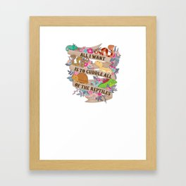 Cuddle All Of The Reptiles Framed Art Print