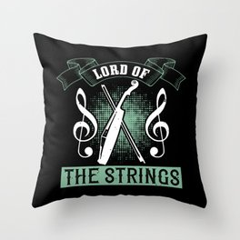 Violin - Lord Of The Strings Throw Pillow
