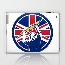 British Electrician Union Jack Flag icon Laptop & iPad Skin
