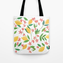 Lemons and Flowers Tote Bag