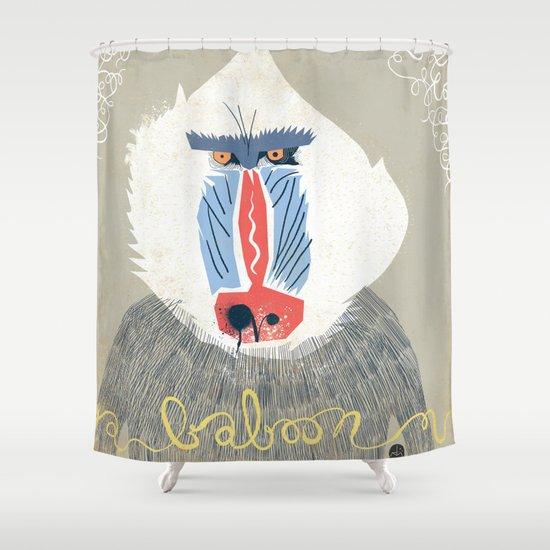 Baboon Shower Curtain