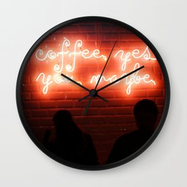 Coffee, Yes, You, Maybe Wall Clock