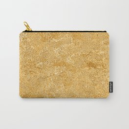 Shiny Textured Gold Foil Carry-All Pouch