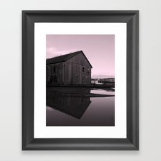 Warehouse Reflection in Pink Framed Art Print
