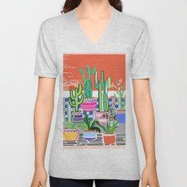 Cactus Window Unisex V-Neck
