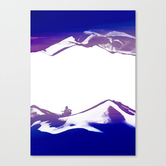Purple Song of isolation Canvas Print