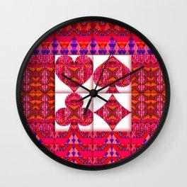 HEART SPADE CLUB DIAMOND Wall Clock