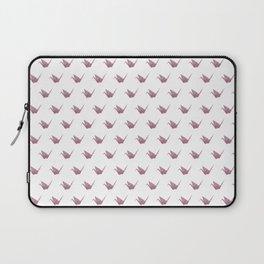 Rose Pink Japanese Crane Origami Laptop Sleeve