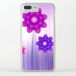 Flower meadow Clear iPhone Case